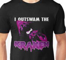 I Outswam the Kraken -Purple Unisex T-Shirt