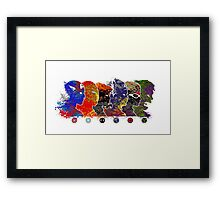 A Splash of Heroism: The Team Framed Print
