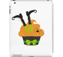 Funny Halloween witch's boots cupcake spider iPad Case/Skin