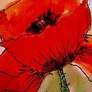 Large Red Poppy by Angela Gannicott