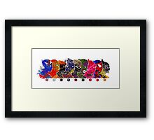 A Splash of Heroism: The (Extended) Team Framed Print