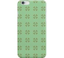Little Gold Flowers on Mint iPhone Case/Skin