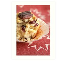 Cranberry orange pecan muffins Art Print