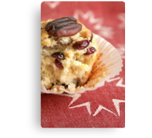 Cranberry orange pecan muffins Canvas Print