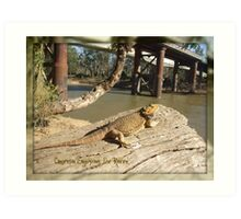 A day out, down the Murray. Art Print