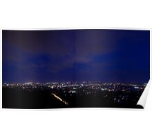 Blue Hour over Brisbane Poster