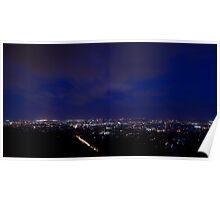 Blue Hour over Brisbane Poster