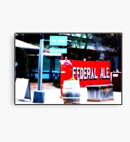 Federal Ale-Echuca Canvas Print