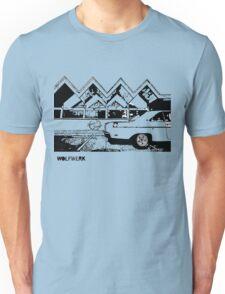 Australian muscle car 1970 Valiant Hemi Pacer Hardtop outside Dino's Diner Sydney take away restaurant 2black Unisex T-Shirt