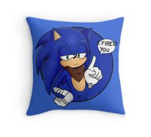 Sonic Boom - I Fired You Throw Pillow