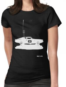 Valiant Charger Australian Muscle Car side view with power lines, 88 white Womens Fitted T-Shirt