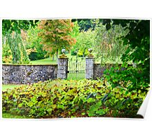 Leith Hall Gardens (Huntly, Aberdeenshire, Scotland) Poster