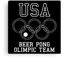 USA Beer Pong Olimpic Team Canvas Print