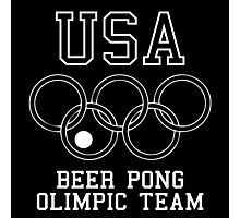 USA Beer Pong Olimpic Team Photographic Print