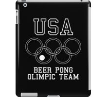 USA Beer Pong Olimpic Team iPad Case/Skin