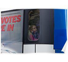 Lonley Girl on Bus Trip Poster