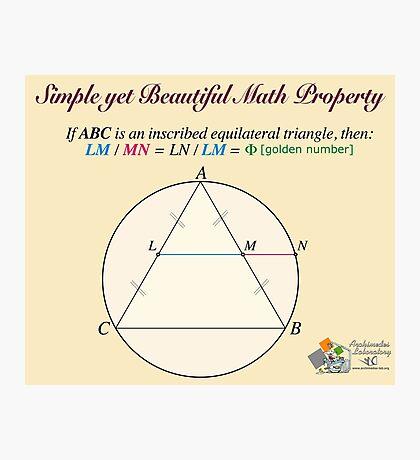 Golden Geometry Photographic Print