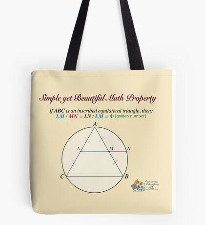 Golden Geometry Tote Bag
