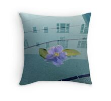 Flower in the pool Throw Pillow