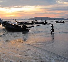 Bringing in the long boats by Nupur Nag