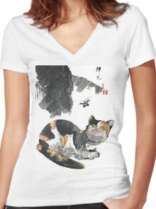 a touch of zen no.6 Women's Fitted V-Neck T-Shirt