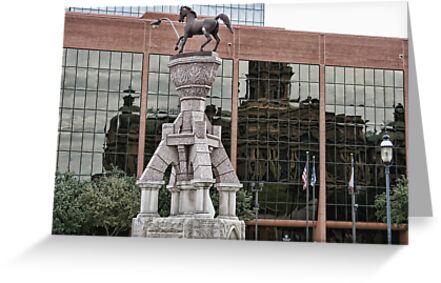 Reflection of the Tarrant County Court House by Susan Russell