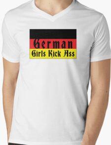 German Girls Kick Ass Mens V-Neck T-Shirt