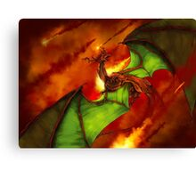 Dragon Rage Canvas Print