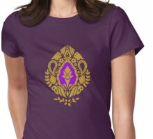 India Paisley Design Womens Fitted T-Shirt