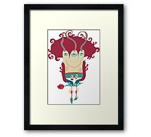 Little monster going on dating. Framed Print
