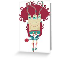 Little monster going on dating. Greeting Card