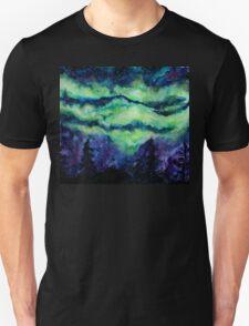 Aurora Borealis Watercolour Painting T-Shirt