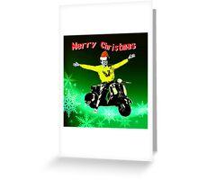 Happy Vespa Xmas Greeting Card