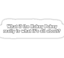 What if the Hokey Pokey really is what it's all about? Sticker