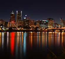 Portland at Night by John Behrends