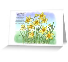 Jonquil Greeting Card