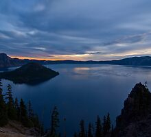 Sunrise at Crater Lake by John Behrends