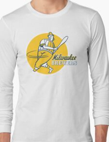 Retro Vintage Milwaukee Brewers Long Sleeve T-Shirt