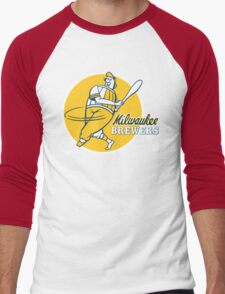 Retro Vintage Milwaukee Brewers Men's Baseball ¾ T-Shirt