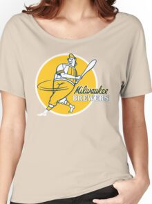 Retro Vintage Milwaukee Brewers Women's Relaxed Fit T-Shirt