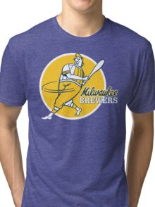 Retro Vintage Milwaukee Brewers Tri-blend T-Shirt