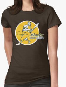 Retro Vintage Milwaukee Brewers Womens Fitted T-Shirt