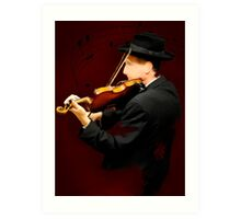 The Lonely Violinist Art Print