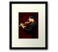 The Lonely Violinist Framed Print