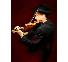The Lonely Violinist Photographic Print