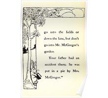The Tale of Peter Rabbitt Beatrix Potter 1916 0012 Not in McGregor's Garden Poster