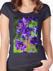 Larkspur Flower Women's Fitted Scoop T-Shirt