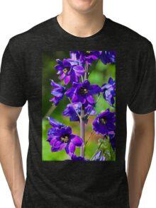 Larkspur Flower Tri-blend T-Shirt