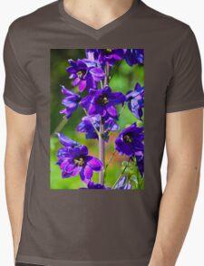 Larkspur Flower Mens V-Neck T-Shirt