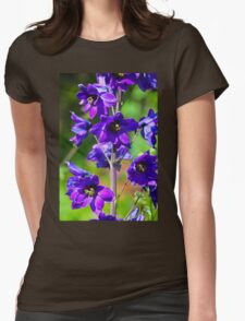Larkspur Flower Womens Fitted T-Shirt